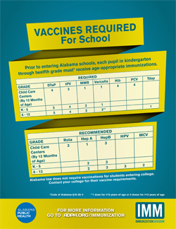 Back To School Immunization Ad