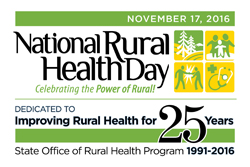 National Rural Health Day is November 17